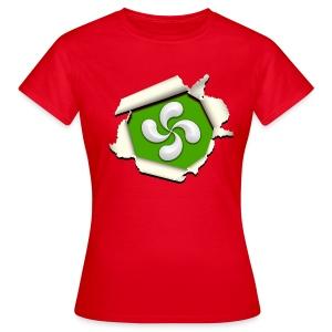 Croix du Pays Basque - Lauburu - T-shirt Femme