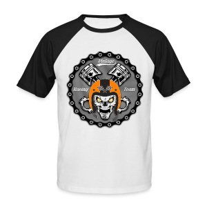 Vintage skull racing team - T-shirt baseball manches courtes Homme