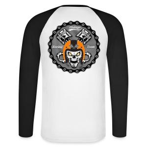 Vintage skull racing team - T-shirt baseball manches longues Homme