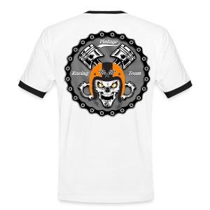 Vintage skull racing team - T-shirt contrasté Homme
