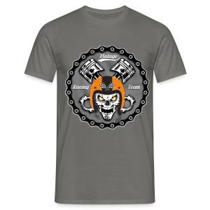 Vintage skull racing team - T-shirt Homme