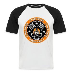V-Twin skull biker - T-shirt baseball manches courtes Homme