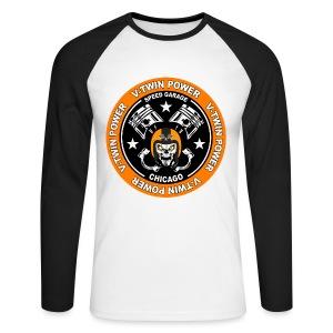 V-Twin skull biker - T-shirt baseball manches longues Homme