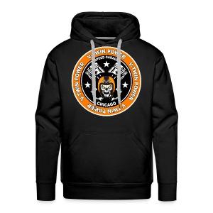 V-Twin skull biker - Sweat-shirt à capuche Premium pour hommes