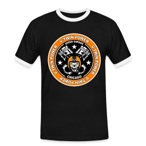 V-Twin skull biker - T-shirt contrasté Homme