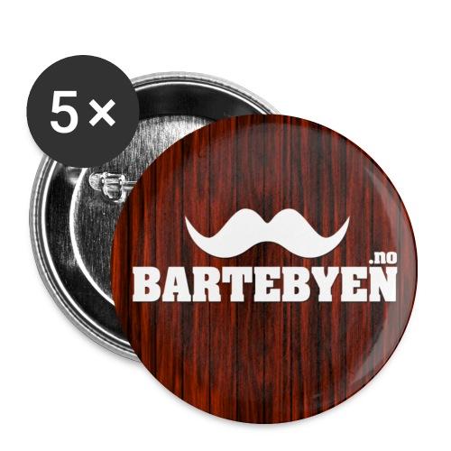 Bartebyen buttons - Middels pin 32 mm (5-er pakke)