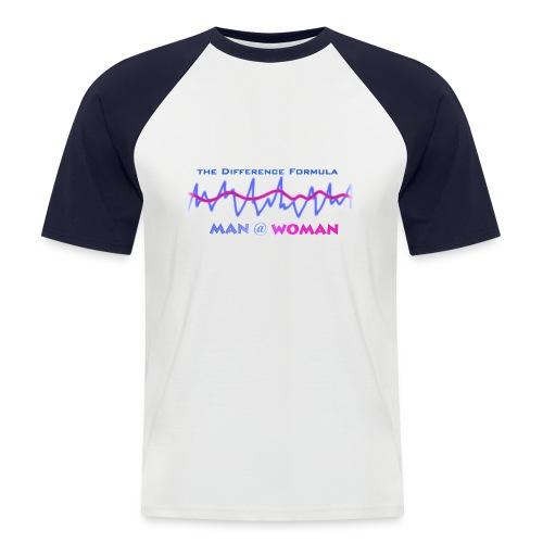 Man @ Woman - Differenz Formula - AndreSi 3D Design T-Shirt Blau/Weis - Männer Baseball-T-Shirt