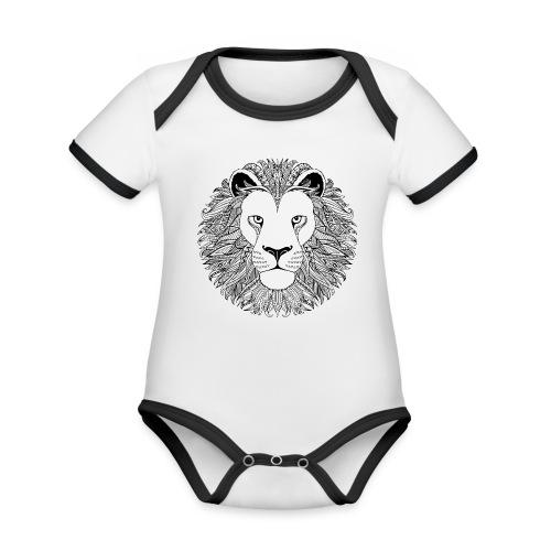 Body bébé lion ethnique - Body Bébé bio contrasté manches courtes