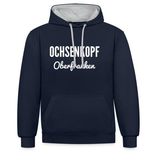 Ochsenkopf Oberfranken - Kontrast-Hoodie