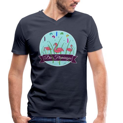 Die Flamingos V-Shirt - Männer Bio-T-Shirt mit V-Ausschnitt von Stanley & Stella