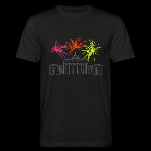 BERLIN Feuerwerk Silvester am Brandenburger Tor. - Männer Bio-T-Shirt