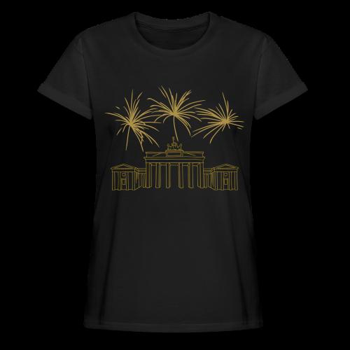 BERLIN Goldregen Feuerwerk Silvester am Brandenburger Tor. - Frauen Oversize T-Shirt