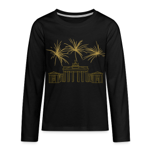 BERLIN Goldregen Feuerwerk Silvester am Brandenburger Tor. - Teenager Premium Langarmshirt