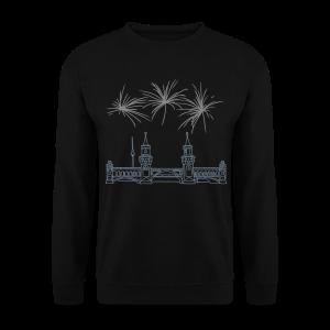 Feuerwerk Silvester an der Oberbaumbrücke Berlin - Männer Pullover