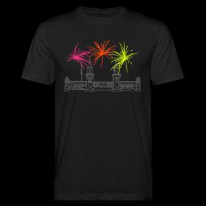 Feuerwerk Silvester an der Oberbaumbrücke Berlin - Männer Bio-T-Shirt