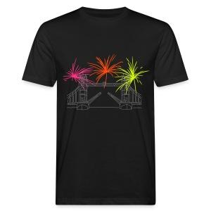 Feuerwerk Silvester in London - Männer Bio-T-Shirt