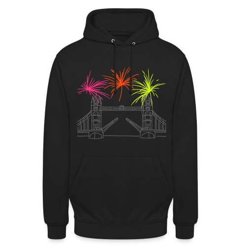 Feuerwerk Silvester in London - Unisex Hoodie