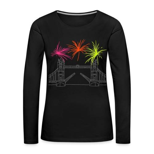 Feuerwerk Silvester in London - Frauen Premium Langarmshirt