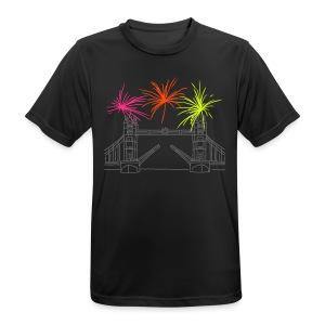 Feuerwerk Silvester in London - Männer T-Shirt atmungsaktiv