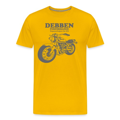 Debben Performance Retro Yellow - Men's Premium T-Shirt