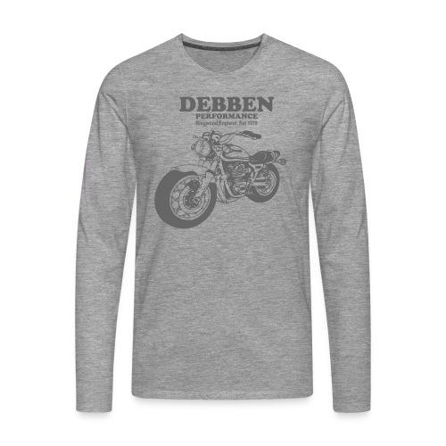 Debben Performance Long Sleeve Grey - Men's Premium Longsleeve Shirt