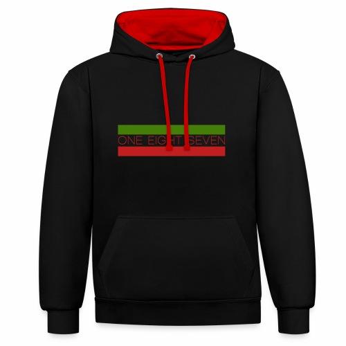 one eight seven hoodie - Kontrast-Hoodie
