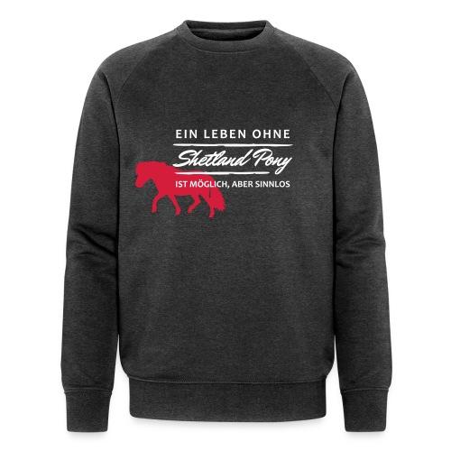 HOLZPFER.DE Shetty Leben - dark silver - front - Männer Bio-Sweatshirt von Stanley & Stella