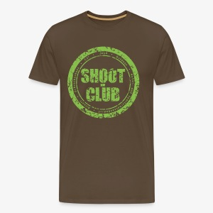shoot-club green circle Logo - Männer Premium T-Shirt