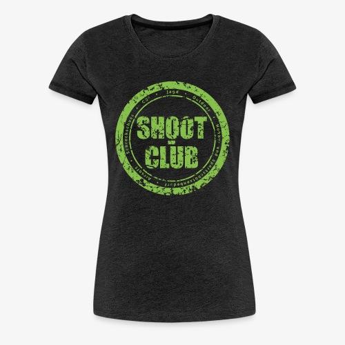 Girls shoot-club green circle Logo - Frauen Premium T-Shirt