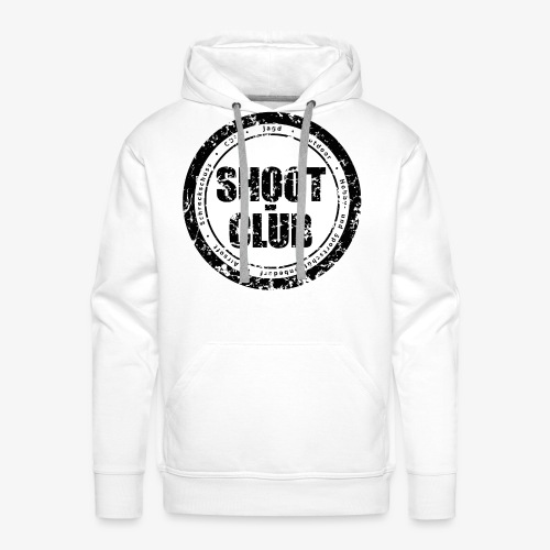 shoot-club black circle Logo - Männer Premium Hoodie