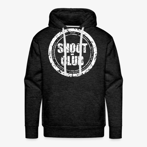 shoot-club white circle Logo - Männer Premium Hoodie