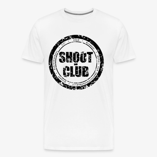 shoot-club - black circle Logo - Männer Premium T-Shirt