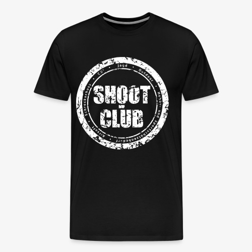shoot-club - white circle Logo - Männer Premium T-Shirt