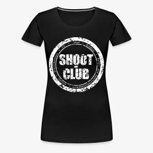 shoot-club - white circle Logo - Frauen Premium T-Shirt