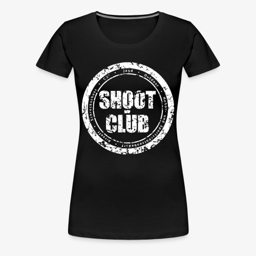 shoot-club - white circle Logo - Frauen Premium T-Shirt