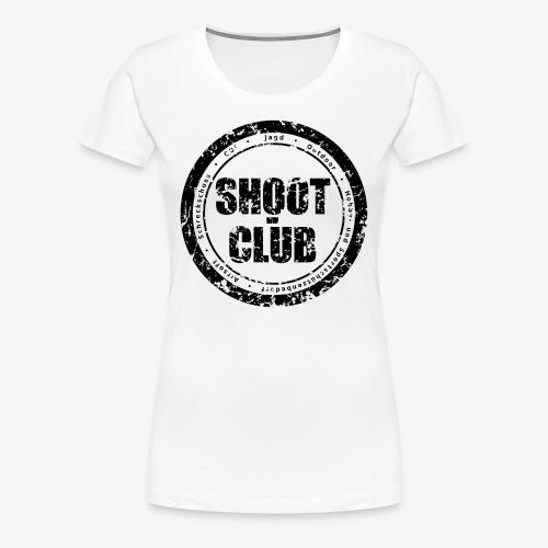 shoot-club - black circle Logo - Frauen Premium T-Shirt