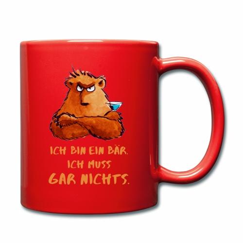 Bärenbecher - Tasse einfarbig
