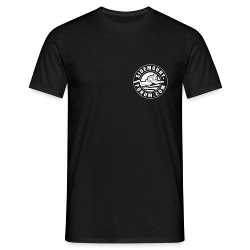 Männer T-Shirt mit weißem Stempel-Logo - Männer T-Shirt
