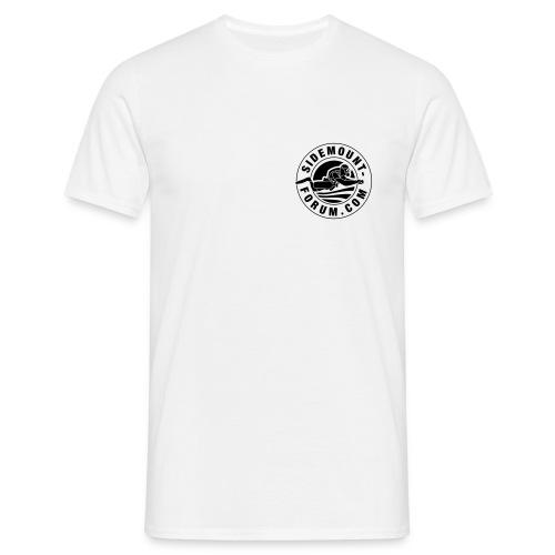 Männer T-Shirt mit schwarzem Stempel-Logo - Männer T-Shirt