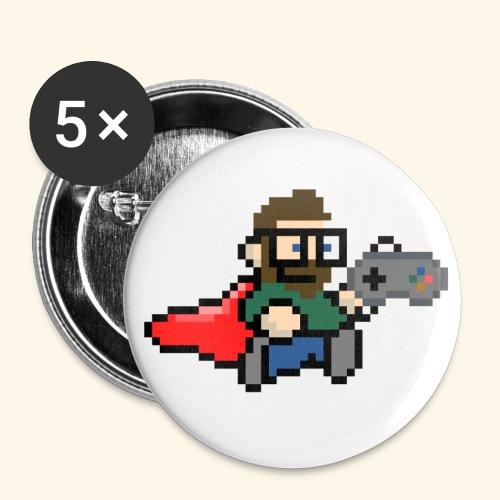 GamerGeek Logo Button - Buttons klein 25 mm (5er Pack)