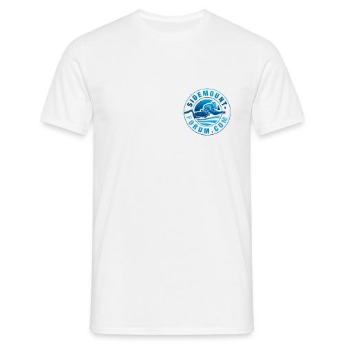Männer T-Shirt mit Stempel-Logo in Vollfarbe - Männer T-Shirt