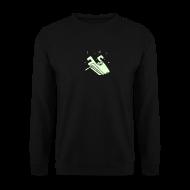 Hoodies & Sweatshirts ~ Men's Sweatshirt ~ Kiffender, leuchtender Wolf - Männer Pullover
