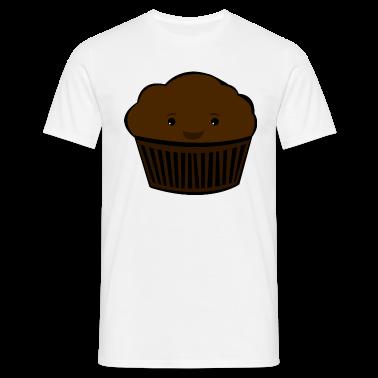 White Happy Muffin Men's T-Shirts