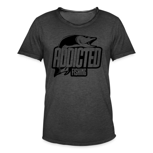 AddictedFishing vintage Homme - T-shirt vintage Homme