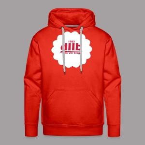 dIIb Circle Hoodie weiß-rot - Männer Premium Hoodie