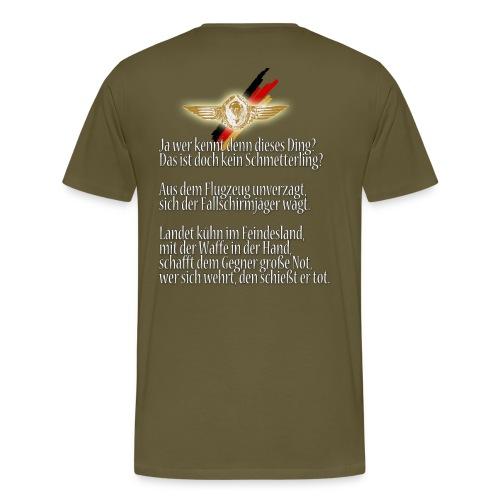 Fallschirmjäger-Gedicht - Männer Premium T-Shirt