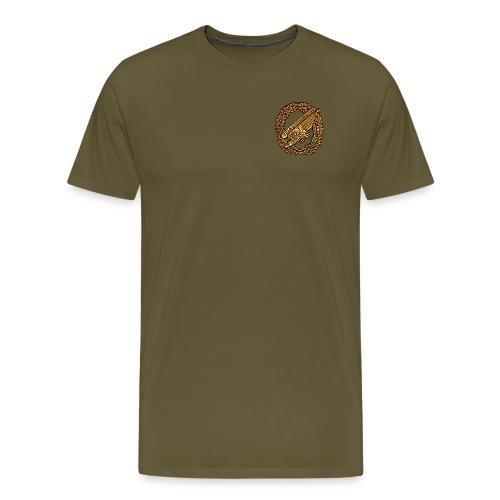 Stürzender Adler Fallschirmjäger Brust - Männer Premium T-Shirt