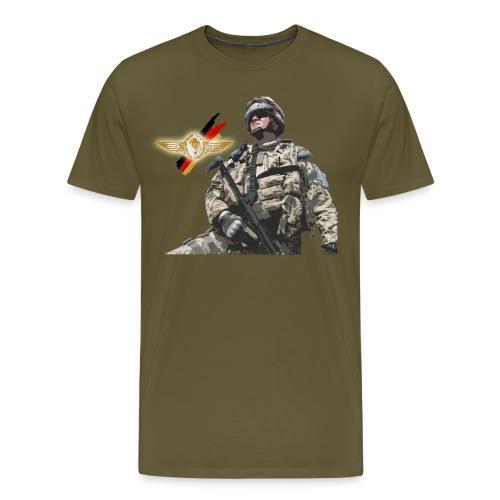 Fallschirmjäger Springerabzeichen Einsatz - Männer Premium T-Shirt