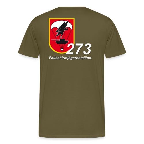 Fallschirmjägerbataillon 273 Verbandsabzeichen Text Rücken - Männer Premium T-Shirt
