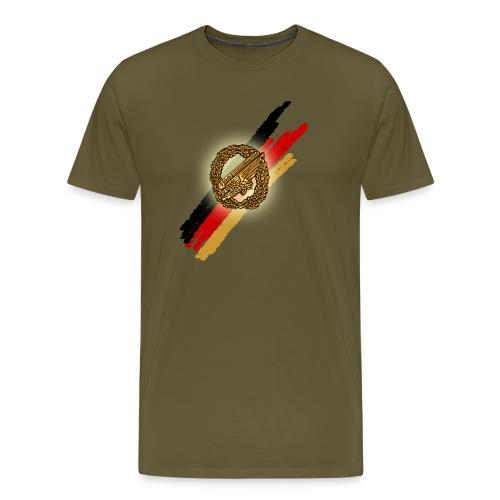 Stürzender Adler Brust groß - Männer Premium T-Shirt